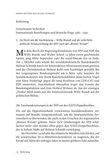 Band 10, Einleitung - Bundeskanzler Willy Brandt Stiftung