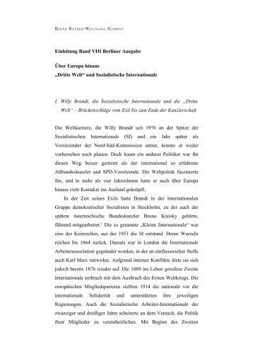 Band 8, Einleitung - Bundeskanzler Willy Brandt Stiftung