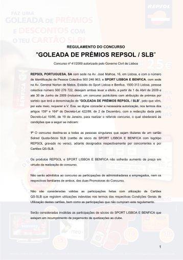 """""""GOLEADA DE PRÉMIOS REPSOL / SLB"""""""
