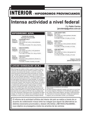 Intensa actividad a nivel federal - Revista Palermo