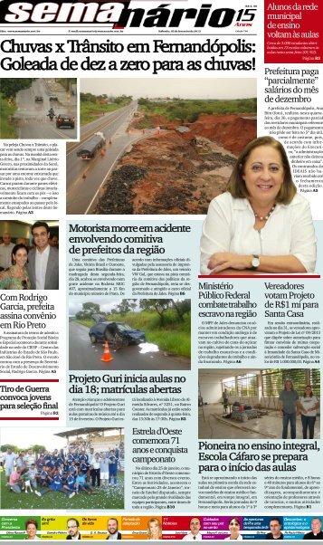 Chuvas x Trânsito em Fernandópolis: Goleada ... - Jornal Semanário