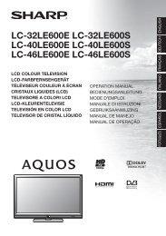 LC-32/40/46LE600E Operation-Manual - Sharp