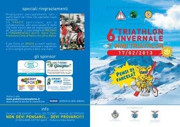 triathlon 2013_volantino.fh11 - Podistica Valle Adamè