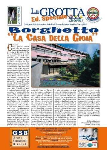 """Scarica il numero speciale de """"La Grotta"""" - UNITALSI Monza"""