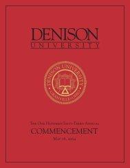 Commencement Program - Denison University