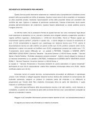 RICHIESTA DI INTERVENTO PER AMIANTO Questo ... - ASL Roma C
