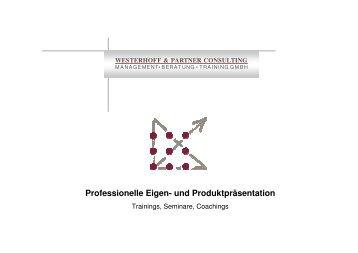 Präsentationstechniken W & P - Westerhoff und Partner Consulting