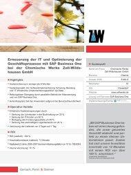 Referenzbericht Chemische Werke Zell-Wildshausen GmbH