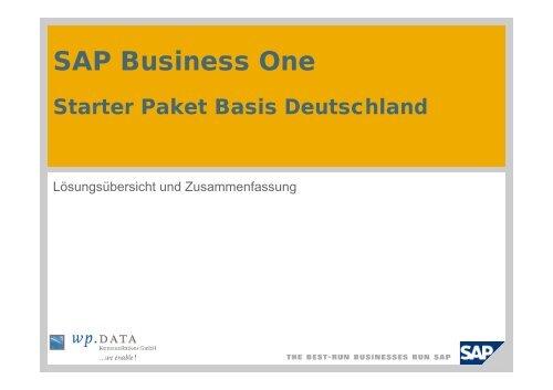 SAP Business One Starter-Paket