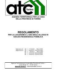 Regolamento d'uso alloggi - ATC Torino