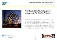 Peter Busch Likörfabrik: Integrierte Lösung sorgt für ... - SAP.com