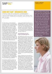CRM Mit SAP® BuSineSS One - SAP.com