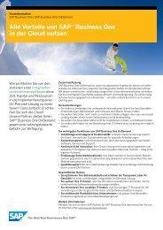 SAP Business One OnDemand - Versino AG