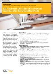 SAP® Business One: Neue und erweiterte Funktionen ... - Versino AG