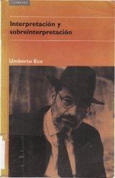 Interpretación y sobreinterpretación - El pensamiento crítico de ...