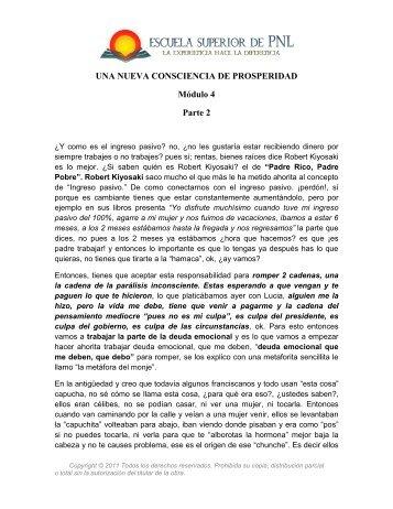 UNA NUEVA CONSCIENCIA DE PROSPERIDAD Módulo 4 Parte 2