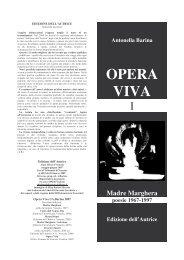 OPERA VIVA I (Madre Marghera) - Edizione dell'Autrice