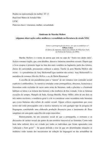 Ruídos na representação da mulher. ST 13 Raul José Matos de ...