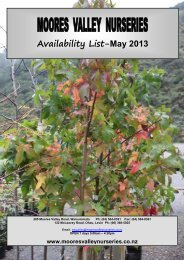 Availability List-May 2013 - Moores Valley Nurseries