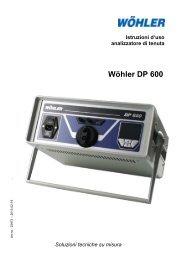 Istruzioni Wöhler DP 600