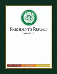 View our 2011-12 President's Report - Nardin Academy