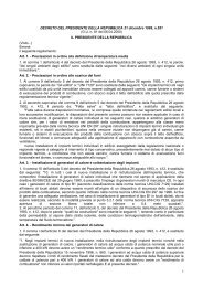 DECRETO DEL PRESIDENTE DELLA REPUBBLICA 21 dicembre ...