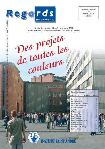 Revue 25 à télécharger - Institut Saint-André Charleroi