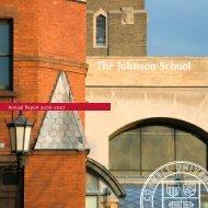 The Johnson School Annual Report 2006–2007 - Johnson Graduate ...