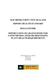 MAF BIOSECURITY AUTHORITY