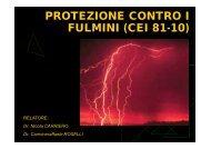 PROTEZIONE CONTRO I FULMINI (CEI 81-10)
