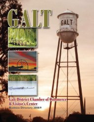 Galt District Chamber of Commerce & Visitor's ... - Online Brochures
