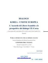 DIALOGO KOREA - UNIONE EUROPEA L'Accordo di Libero ...