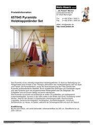 657045 Pyramido Holzklappständer Set - Pedalo