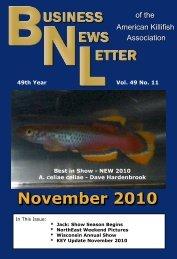 November 2010 - American Killifish Association