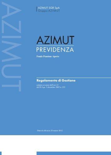 Regolamento di gestione Azimut Previdenza