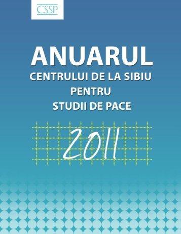 Anuarul CSSP - 2011 - Centrul de la Sibiu pentru Studii de Pace