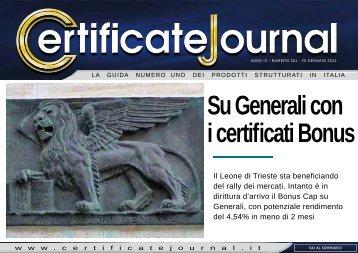 Su Generali con i certificati Bonus - Certificate Journal