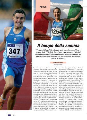 Il tempo della semina - Atletica Bergamo 59