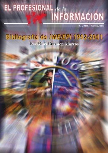 Bibliografía de IWE/EPI 1992-2001 Bibliografía de IWE/EPI 1992-2001