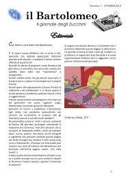 Numero 1 – OTTOBRE 2012 Il Bartolomeo - Liceo Classico B. Zucchi