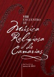 Descargar programa - VIII Encuentro de Música Religiosa de Canarias