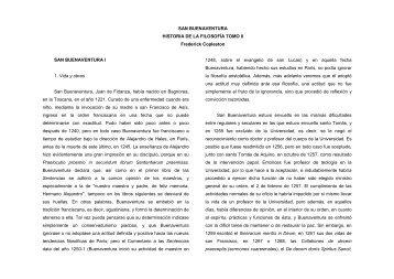 SAN BUENAVENTURA HISTORIA DE LA FILOSOFÍA TOMO II ...