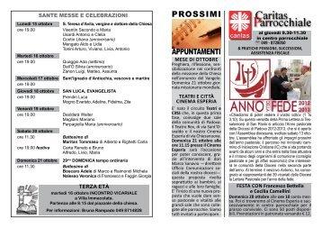 Essere Comunita 14 ottobre 2012 - Parrocchia Chiesanuova
