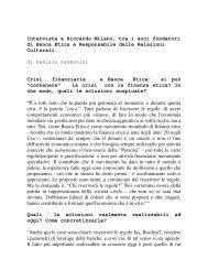 Intervista a Riccardo Milano, tra i soci fondatori di ... - La Rondine