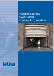 Pumped storage power plant Kopswerk II, Austria