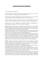 Lettera aperta - Il Fatto Quotidiano