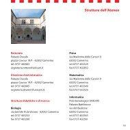 Strutture dell'Ateneo - Università degli Studi di Camerino