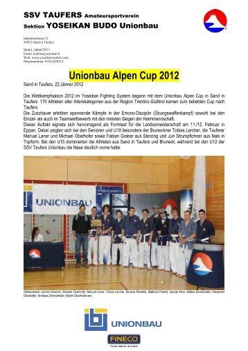 Ergebnisse Unionbau Alpen Cup 2012 - SSV Taufers Yoseikan ...