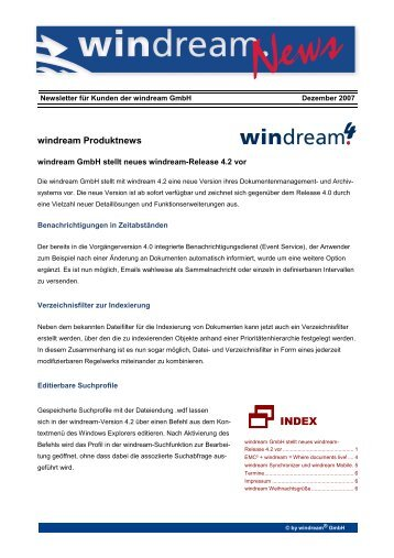 SINDEX - Windream GmbH
