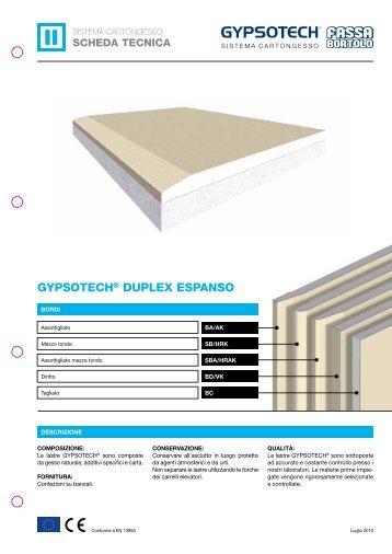 GYPSOTECH® DUPLEX ESPANSO - Casabiocasamia